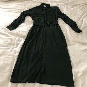 H&M Dark emerald shirt midi dress